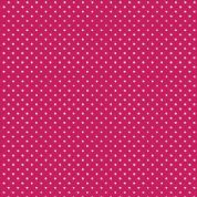 Spot by Makower UK - 5370 - White Spots on Raspberry Pink - 830_P68 - Cotton Fabric